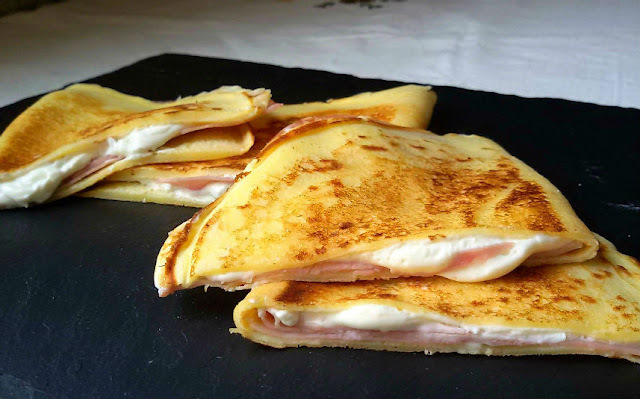 Crepes de jamón y queso light (especial dietas)