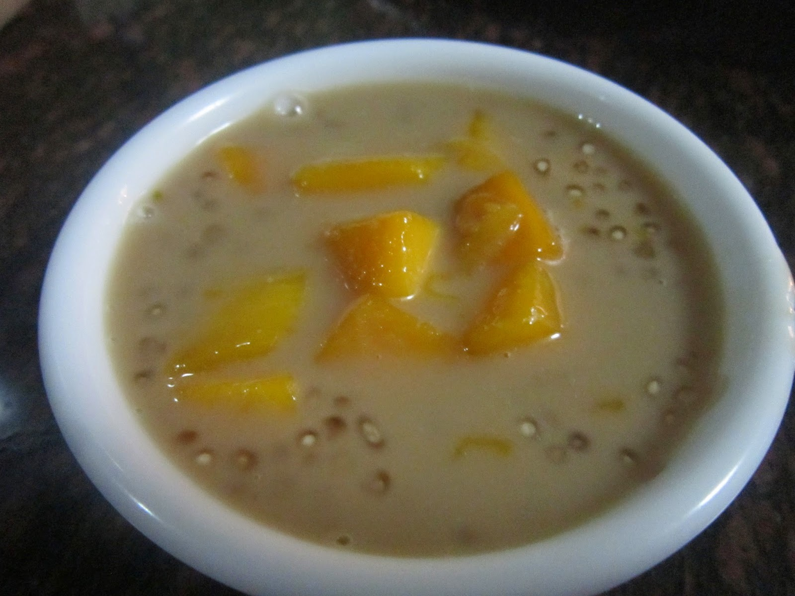 MANGO SAGO in COCONUT MILK