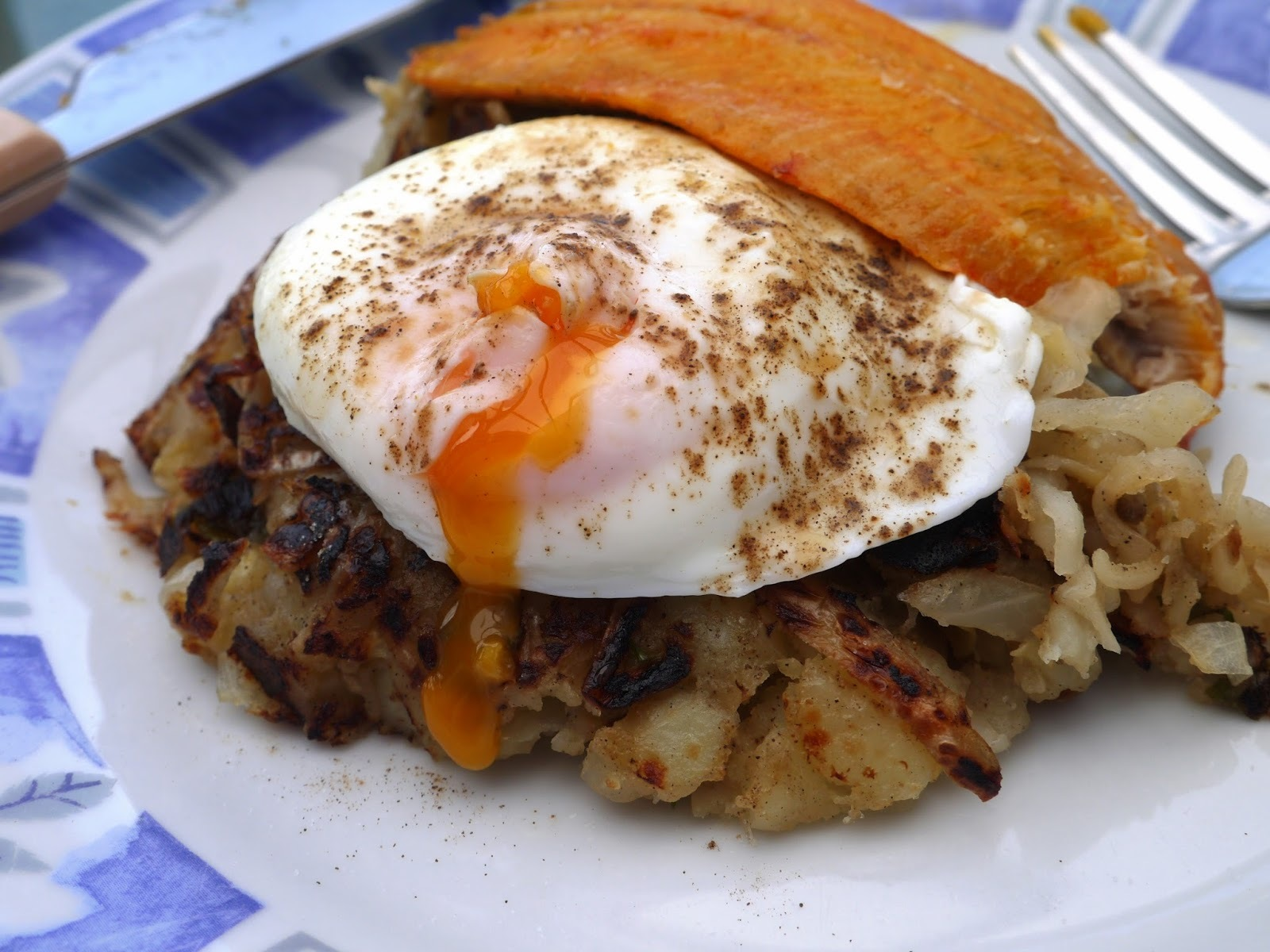 Smoked Kippers, Poached Eggs with Bubble and Squeak