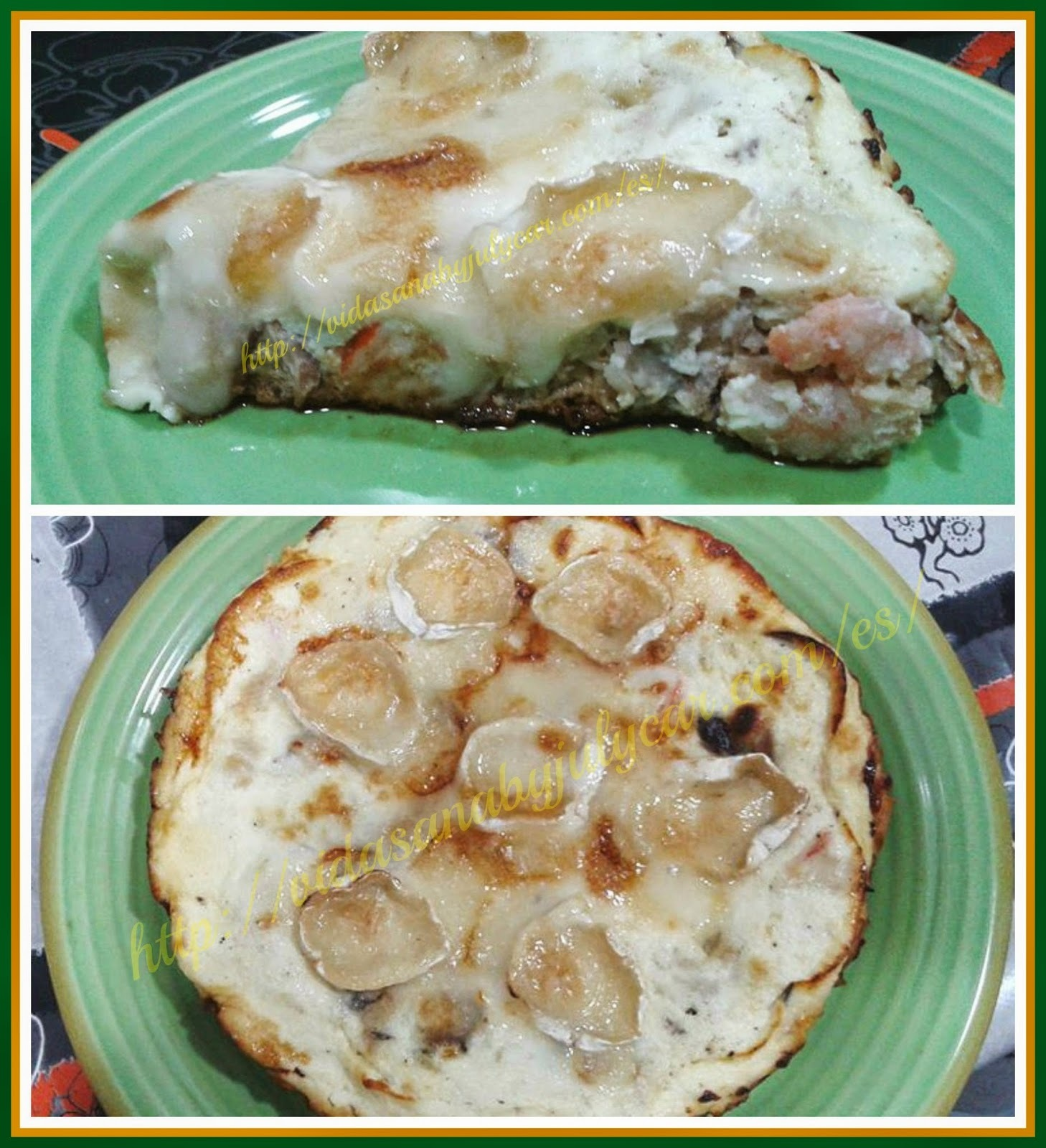 Quiché marinero light con queso cabra