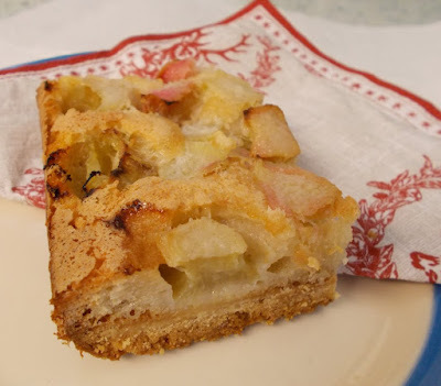 Rhubarb Dream Bars - cakies of much deliciousness!
