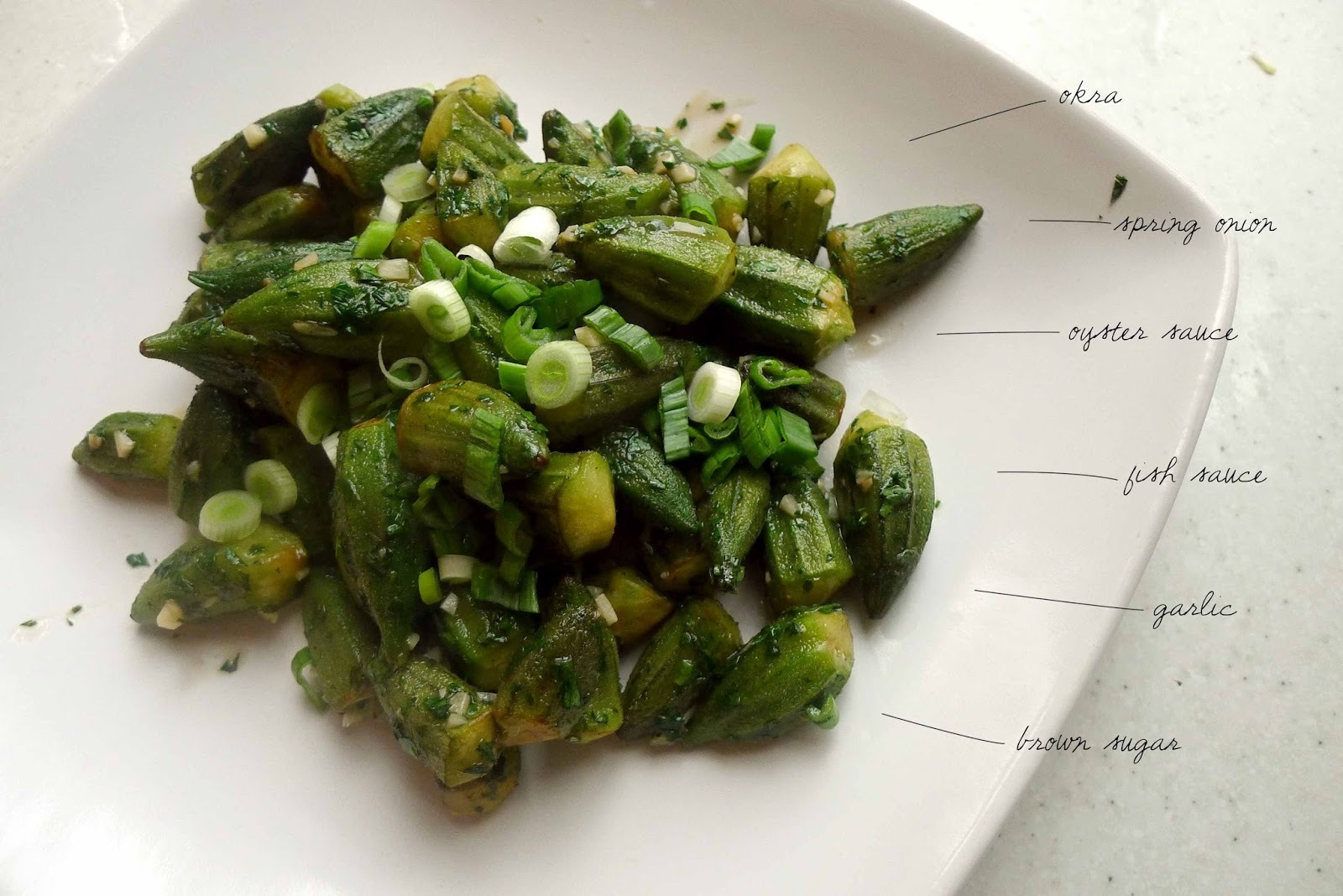 Stir-Fried Okra with Oyster & Fish Sauce