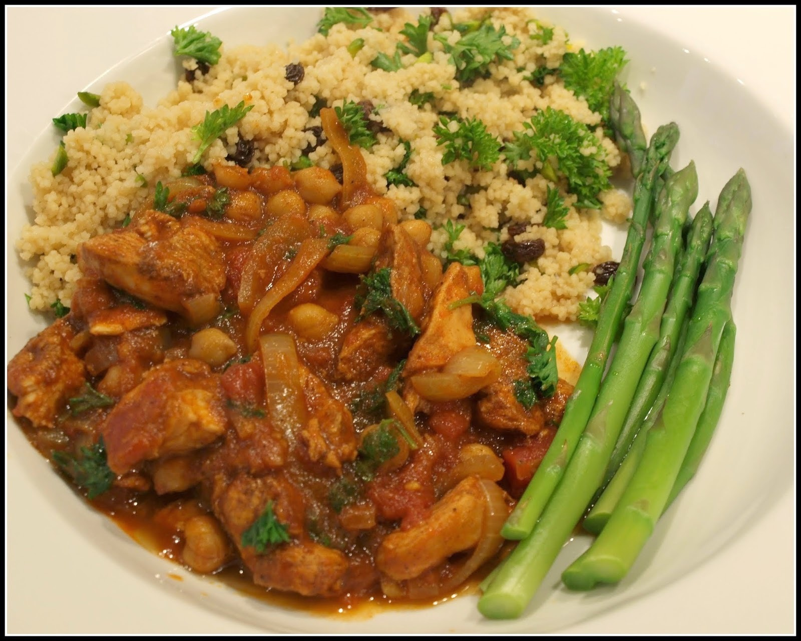 Spicy chicken tagine with couscous
