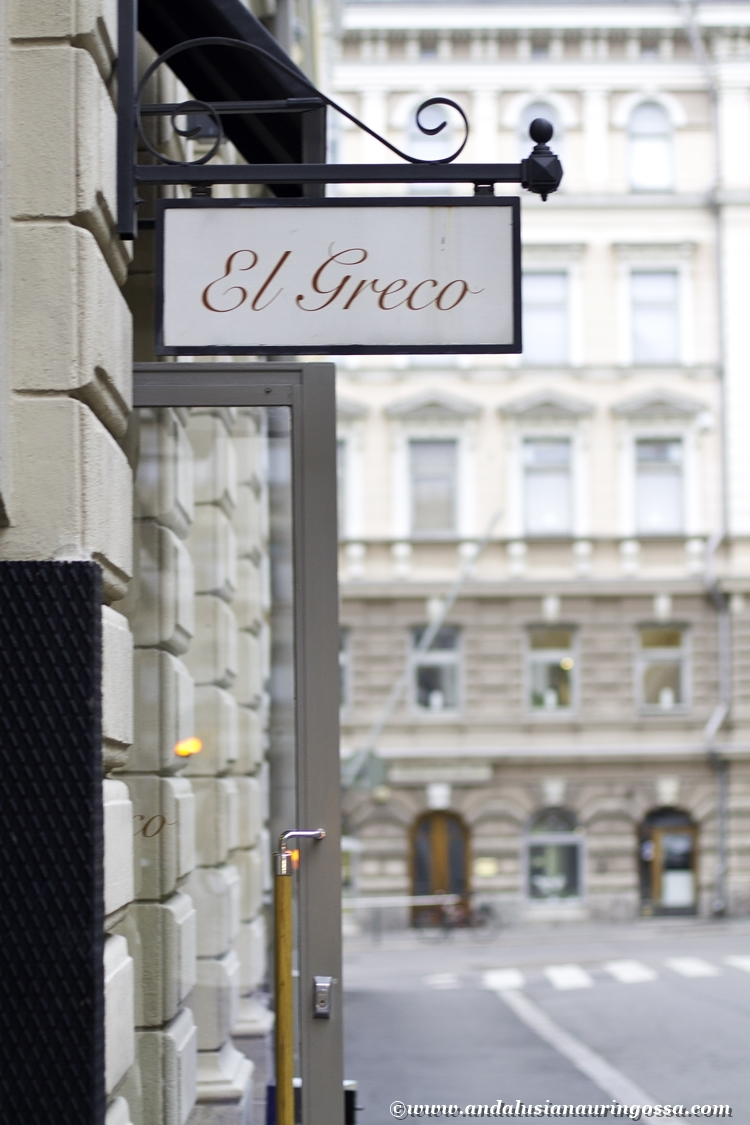 Dining and w(h)ining in Helsinki. El Greco, the best Greek in town