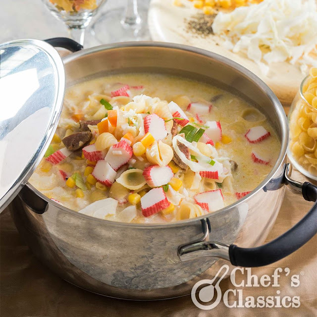 Chicken and Crab Stick Sopas Recipe