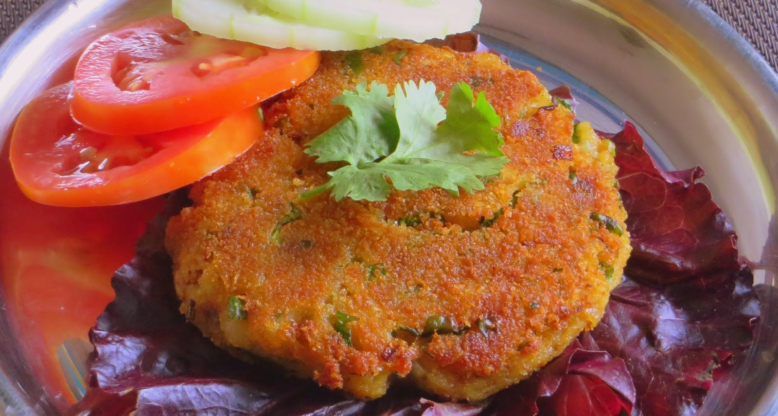 Vegetable Burger with Potato Patty Indian style