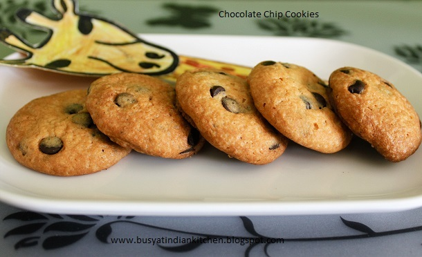 Chocolate Chip Cookies (With Step Wise pictures)