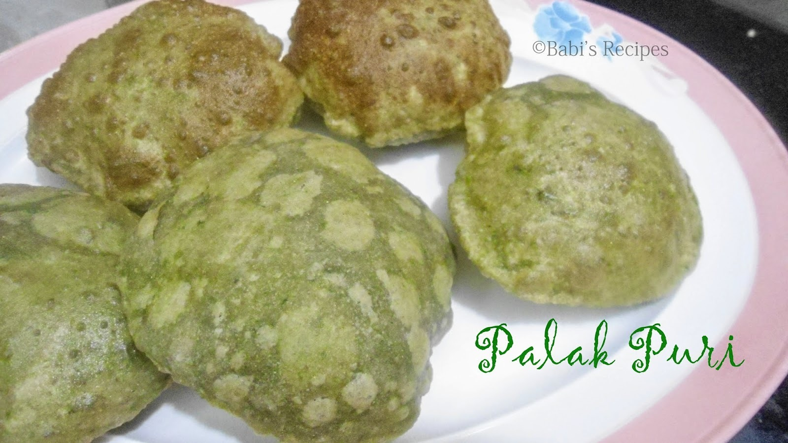 Palak Puri/Poori  | Spinach Poori | South Indian Breakfast