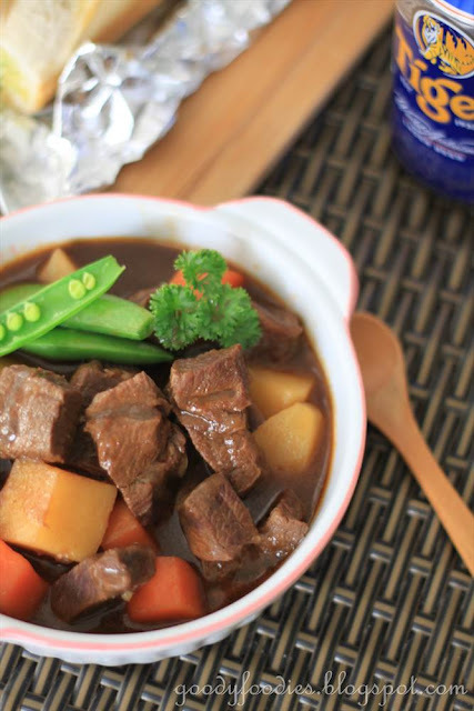 Recipe: Beef Stew with Beer and Paprika (Ree Drummond)