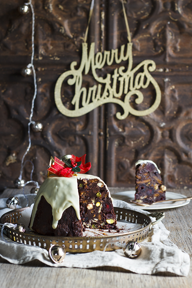 No-Bake Chocolate Christmas Pudding