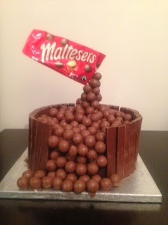Floating Malteser Cake for Comic Relief
