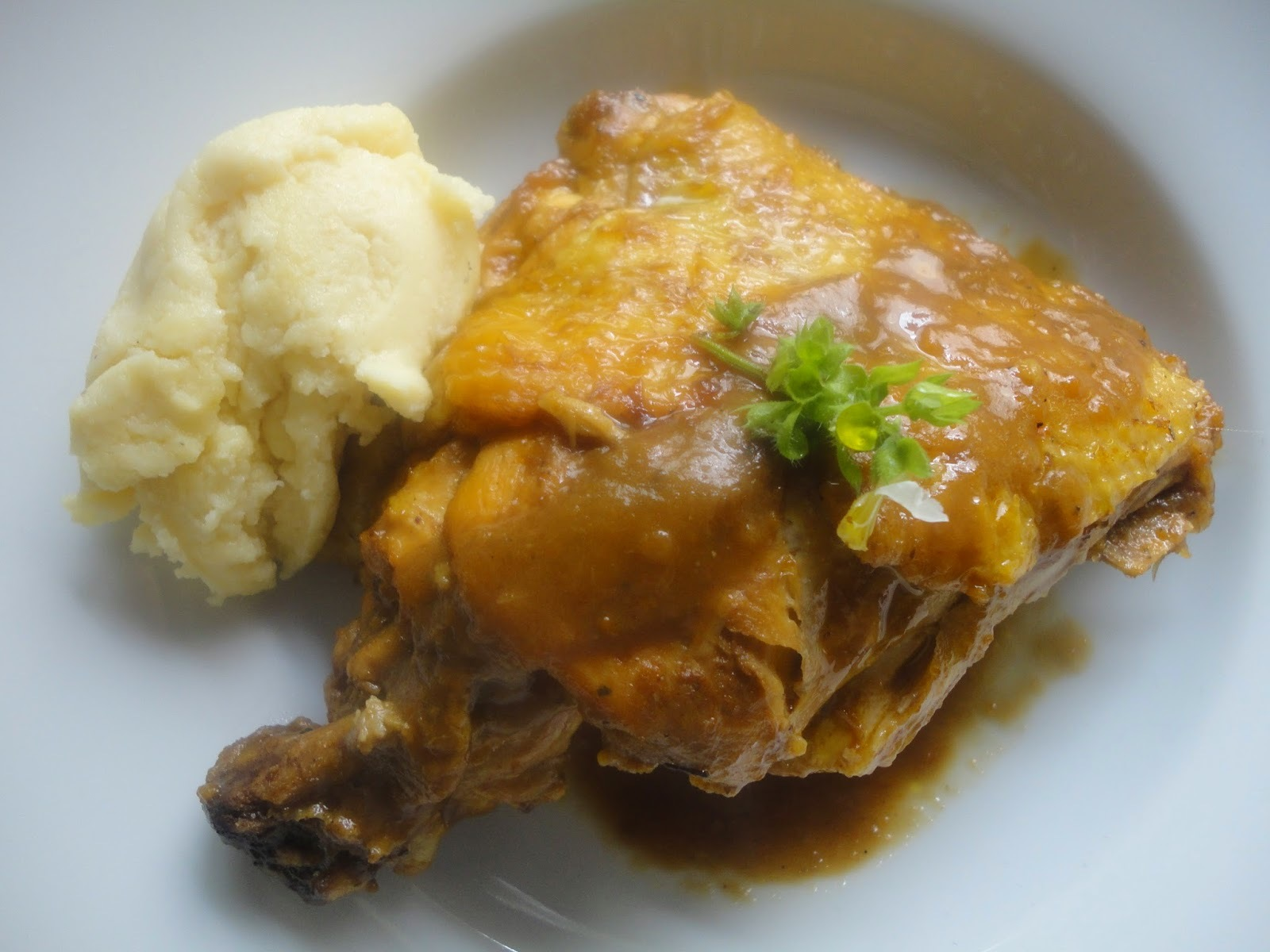 Pollo de corral 'irish style'