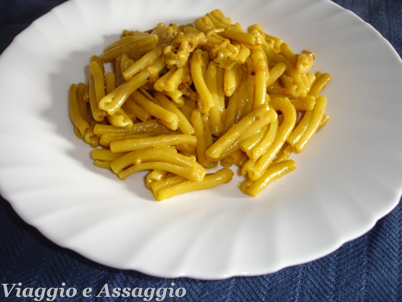 Pasta al Curry e Zafferano
