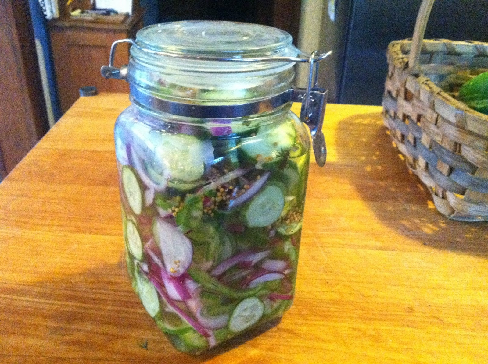 Pickled Cucumber Salad – it lasts all summer!