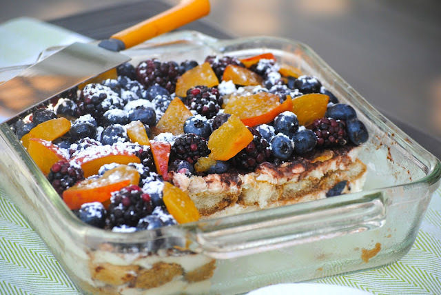 Berry and Peach Tiramisu