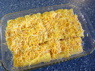 Cheesy Chicken Enchiladas #SundaySupper