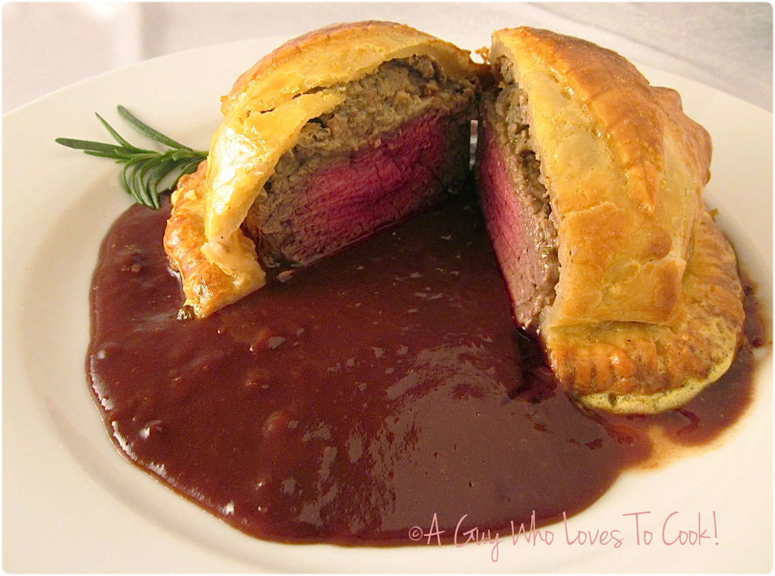 Beef Wellington with Cumberland Sauce