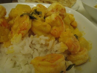Spicy prawn & pineapple curry