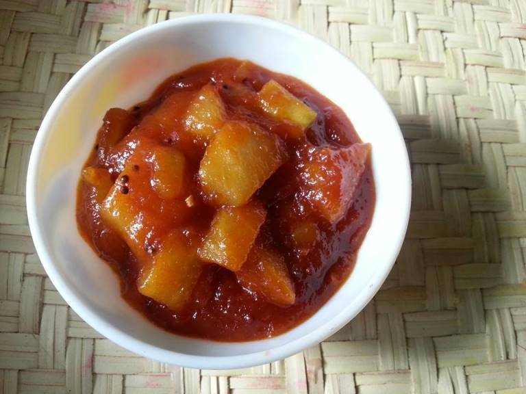 Instant Sweet Mango Pickle Recipe / Sweet and Sour Mango Pickle Recipe