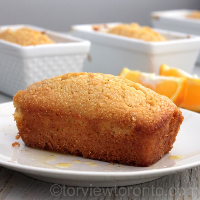 Orange Semolina Cake in Mini Loaf Pans