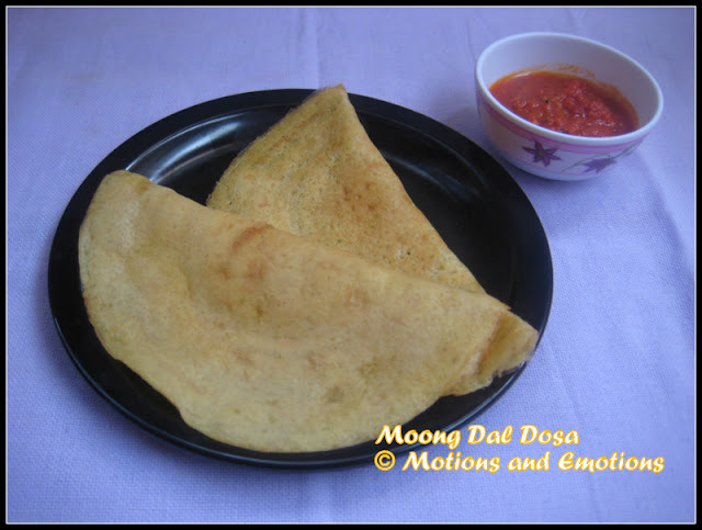 Yellow Moong Dal Dosa / Instant Dosa / Dosa without Fermentation / Quick Dal Dosa