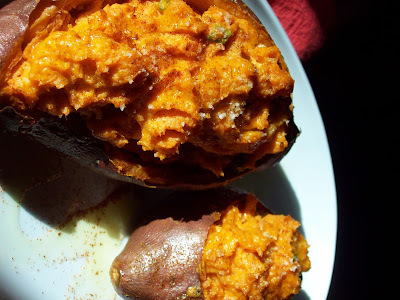 spicy twiced baked sweet potatoes for thanksgiving