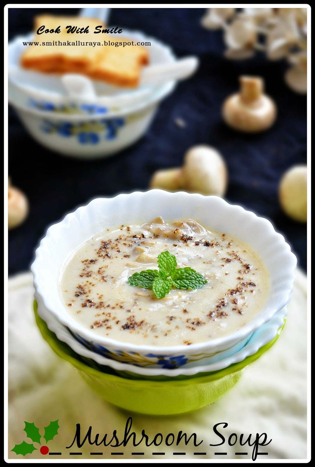 MUSHROOM SOUP RECIPE / CREAM OF MUSHROOM SOUP - VEGETARIAN & INDIAN STYLE!!