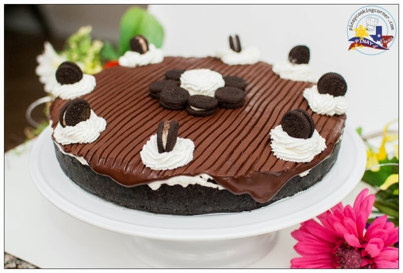 Oreo White Chocolate Mousse Torte with Chocolate Ganache Topping