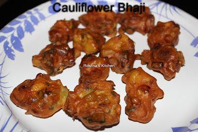Cauliflower Bhaji / Cauliflower Pakoda
