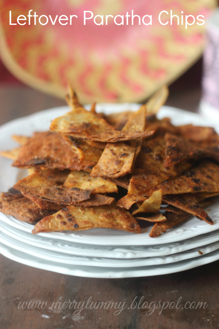 Leftover Paratha, Roti or Chapati Chips: Chapati Chips: Paratha Chips