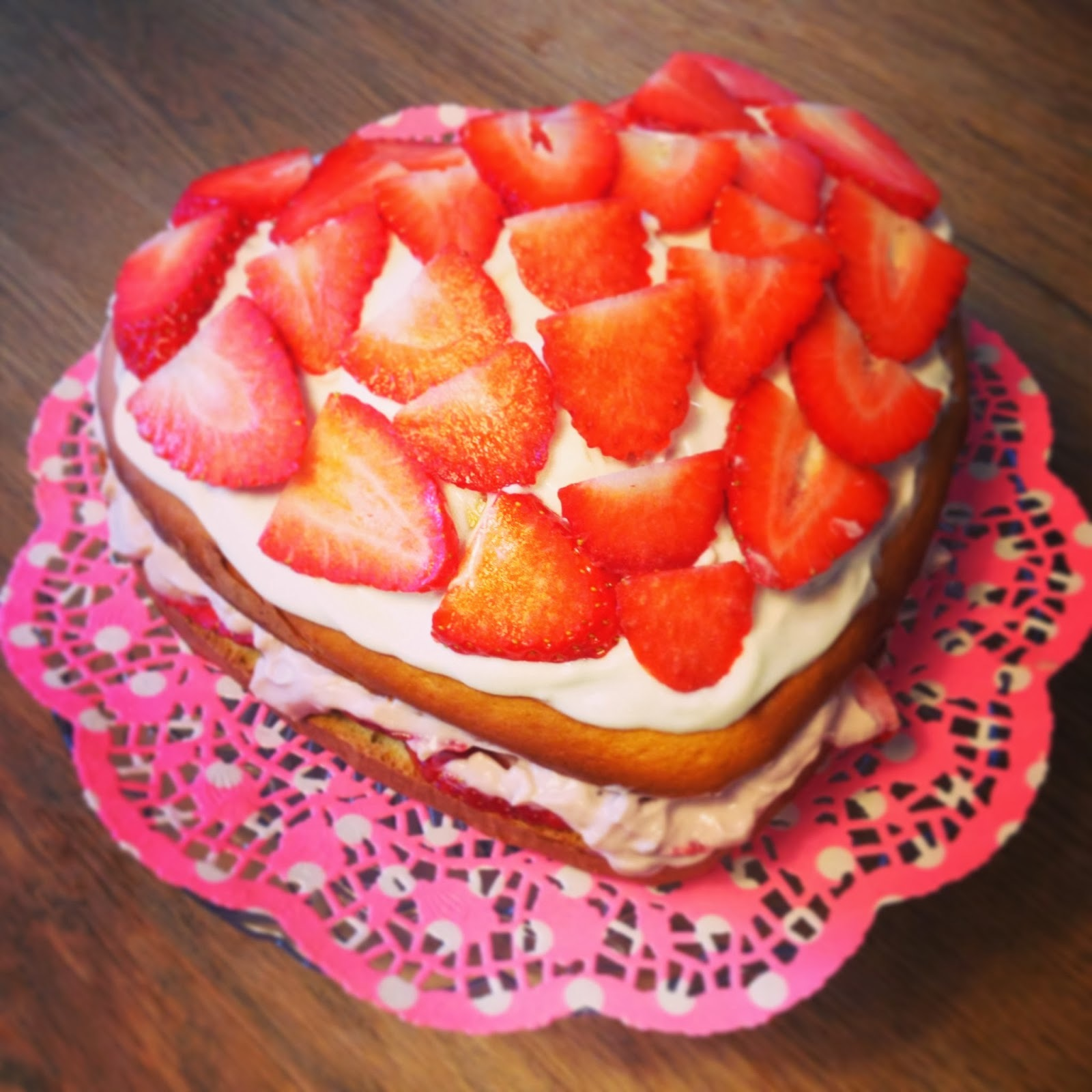 Let them eat cake (strawberry gateaux to be precise)!