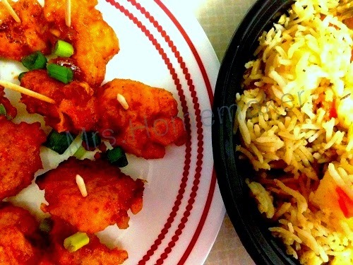 Gobi Manchurian with Vegetable Pulao