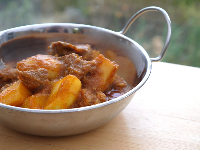 Lamb Potato Curry - Aloo Gosht.
