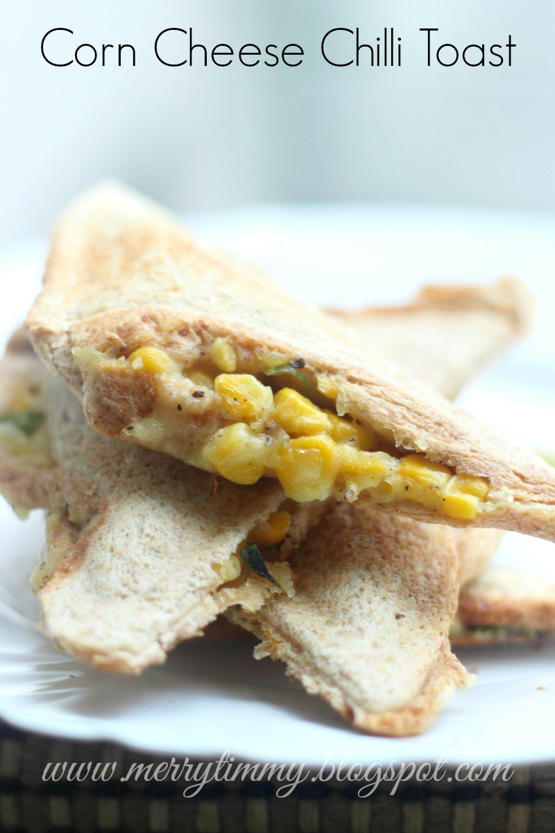 Corn Cheese Chilli Toastie