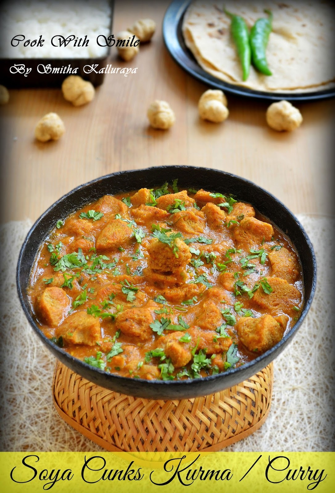 SOYA CHUNKS GRAVY / MEAL MAKER KURMA / SOYA CHUNKS CURRY