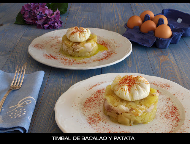 TIMBAL DE BACALAO Y PATATA