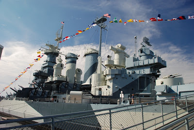 The Hawthornes Visit Battleship North Carolina In Wilmington, North Carolina..