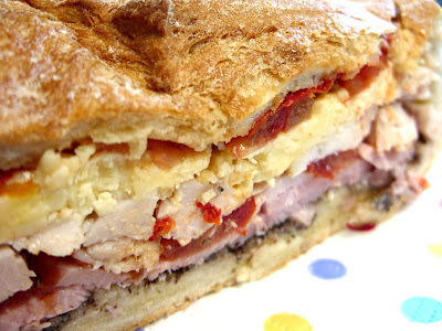 Lean on Turkey challenge no. 3 -  Roast Turkey Mufaletta!