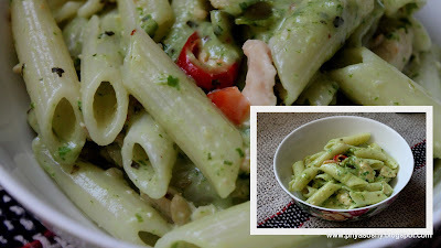 Pasta with Basil & Cashew Pesto