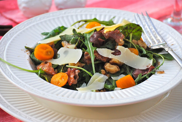 Blogger Clue July ~ Arugula Salad with Figs, Prosciutto, Walnuts, and Parmesan