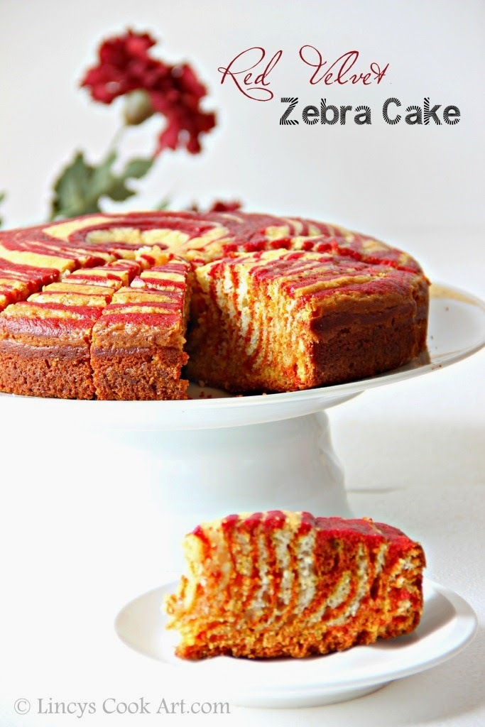Red Velvet Zebra Cake (Egg less)