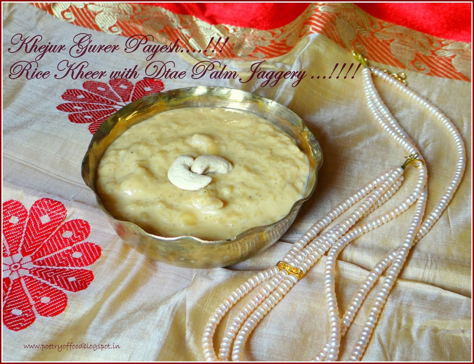 Nolen Gurer Payesh...Rice Kheer With Date Palm Jaggery...!!!!