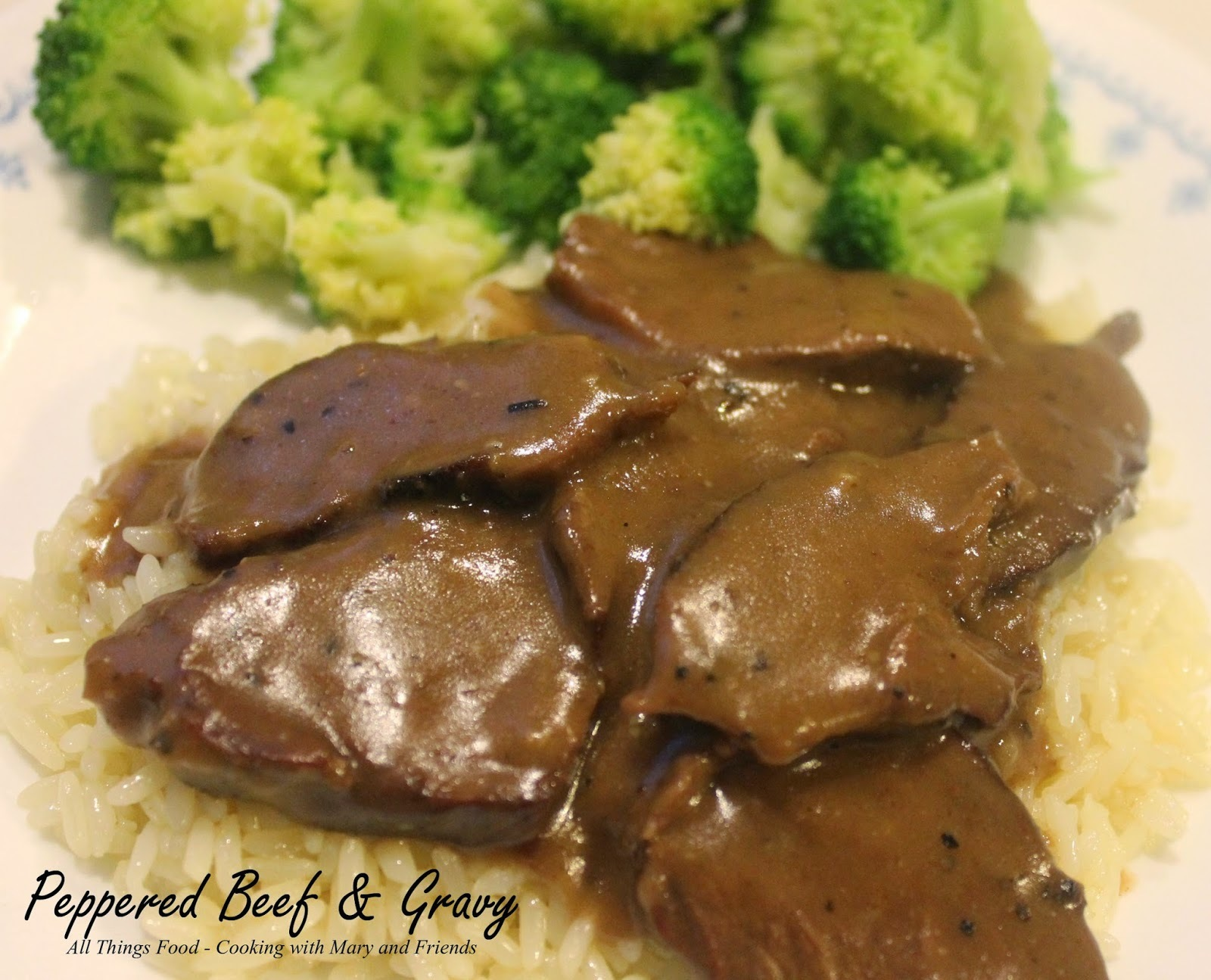 Peppered Beef & Gravy