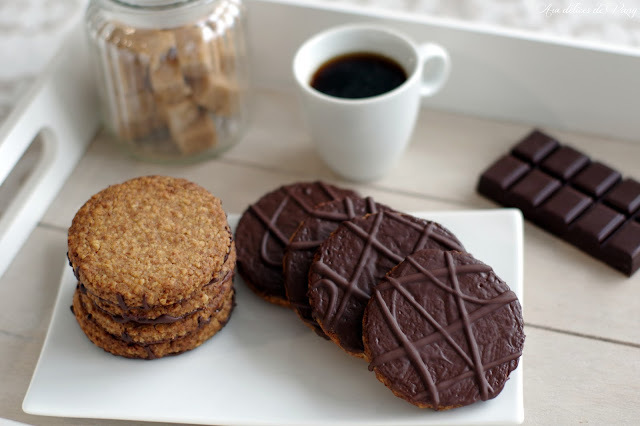 Biscuits façon hobnobs au chocolat (Battle Food #37)