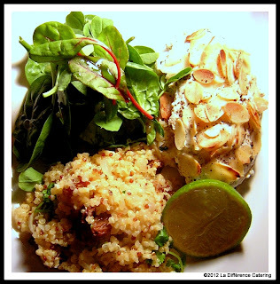 Lime & Almond Chicken with Quinoa Pilaf