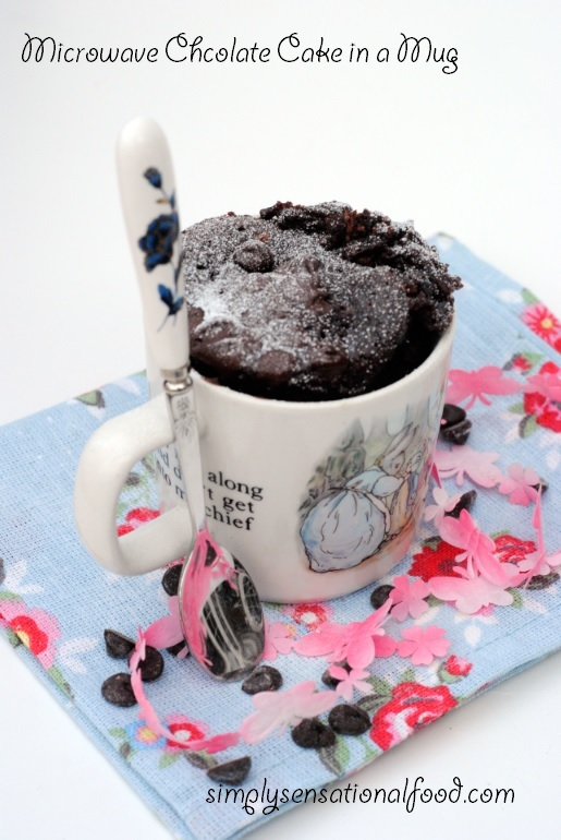 Microwave Chocolate Cake in a Mug ~ Secret recipe challenge 19th Jan 2015