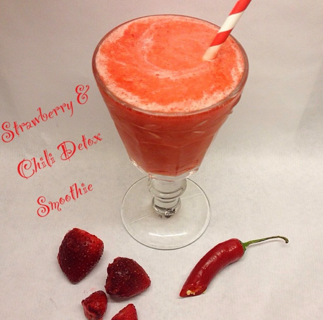 Jordgubbs & Chili Detox Smoothie
