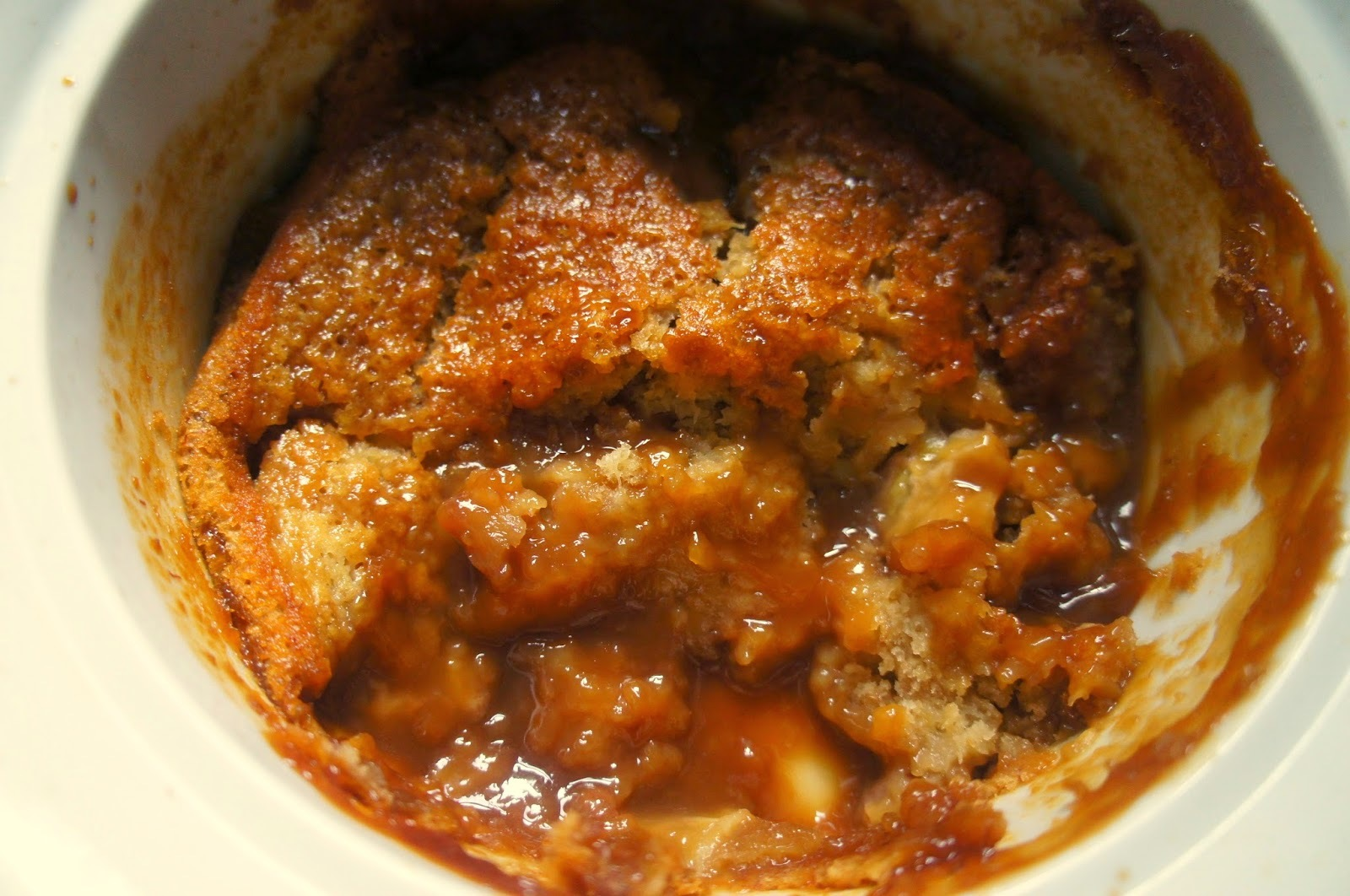 Vegan sticky banana pudding