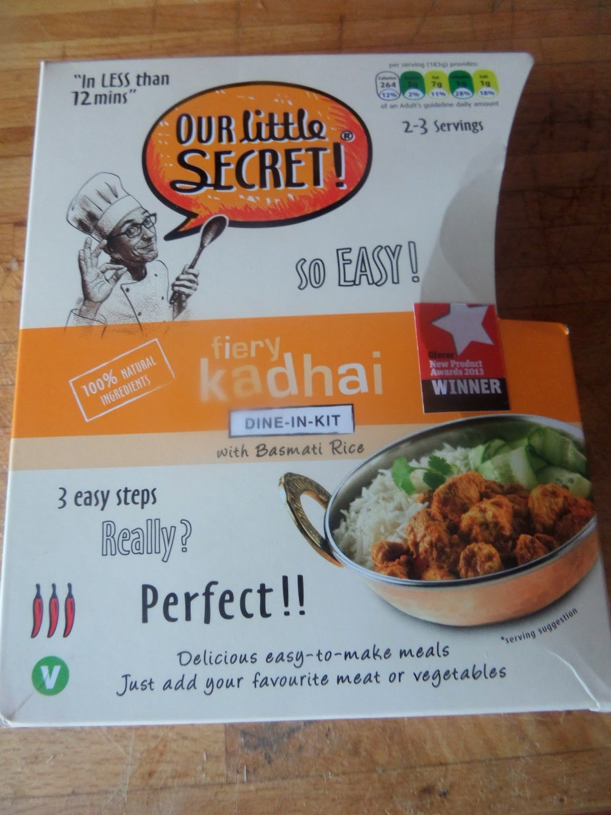 Our Little Secret Fiery Kadhai Dine-In Kit with Basmati Rice review