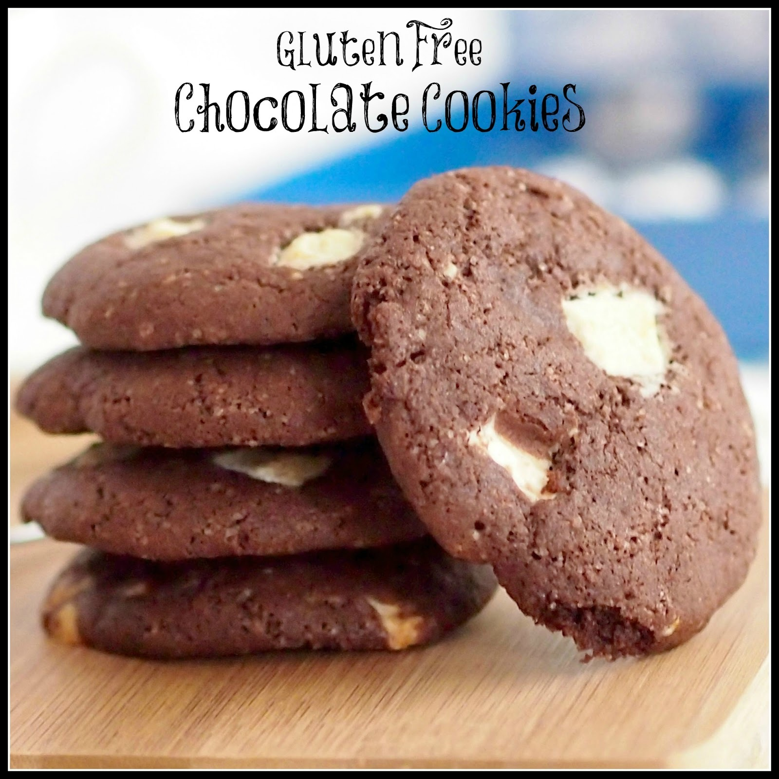 Gluten Free Chocolate Cookies with White Chocolate Chips